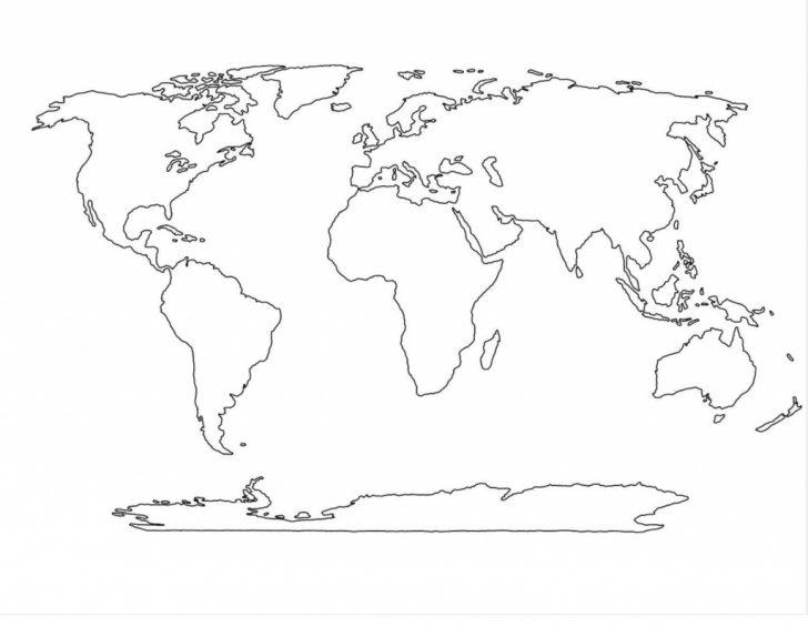 Blank World Map Printable Pdf
