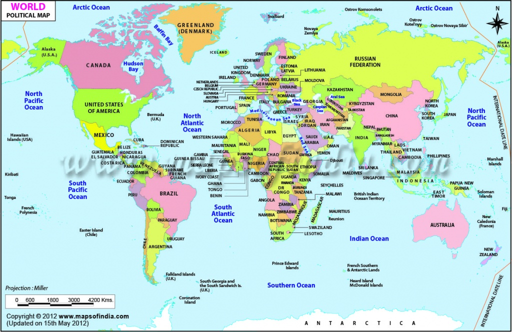 World Map Printable, Printable World Maps In Different Sizes - World Map With Scale Printable