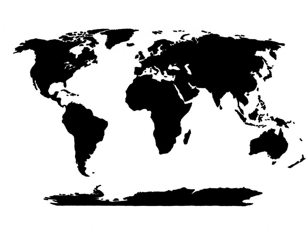 World Map Stencil   Templates   World Map Template, Blank World Map, Map - World Map Stencil Printable