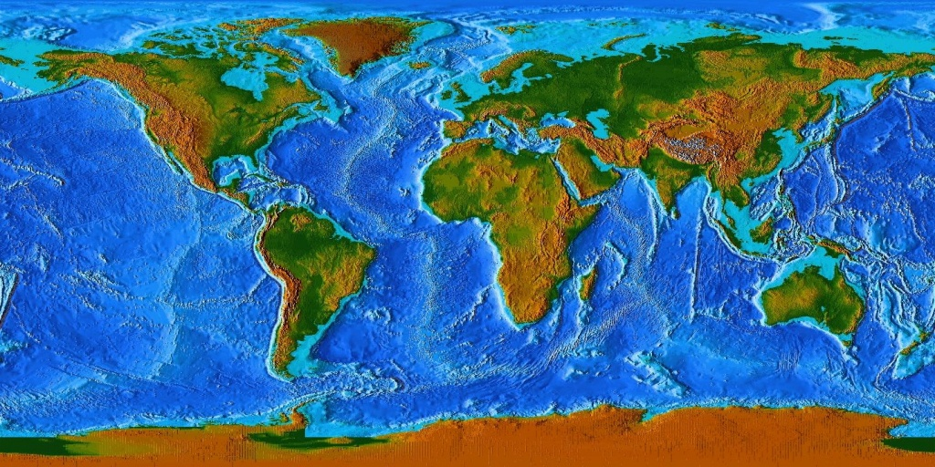 World Map Topographic - Google Search | Tattoo: Flags | Map - Topographic World Map Printable