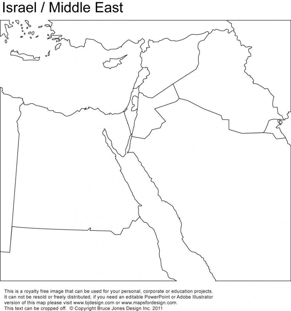 World Regional Printable, Blank Maps • Royalty Free, Jpg - Blank Map Israel Printable