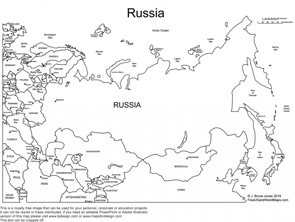 World Regional Printable, Blank Maps • Royalty Free, Jpg - Blank Russia Map Printable