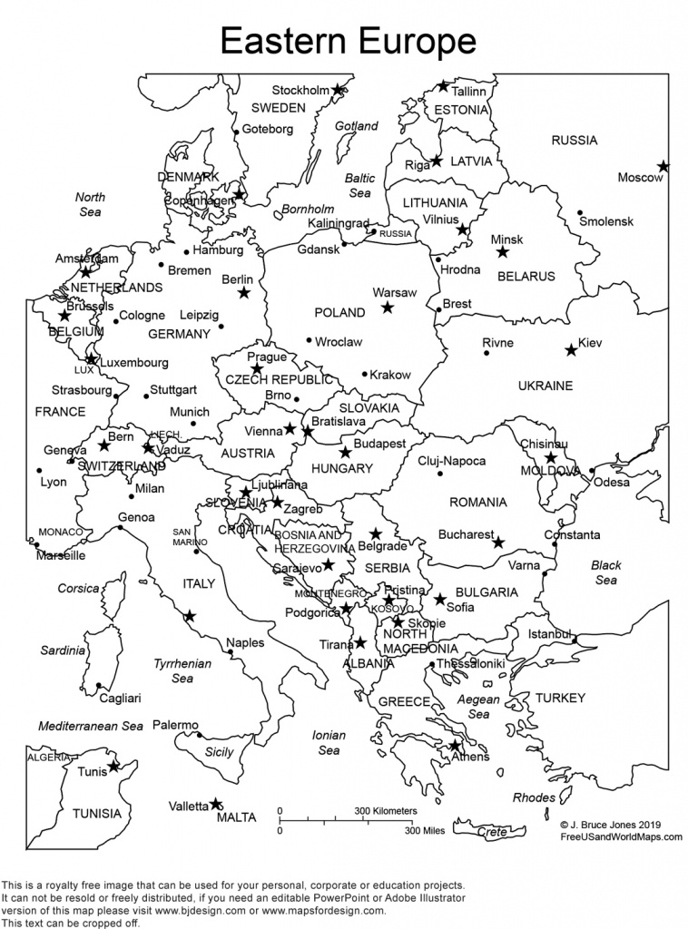 World Regional Printable, Blank Maps • Royalty Free, Jpg - Printable Blank Map Of European Countries