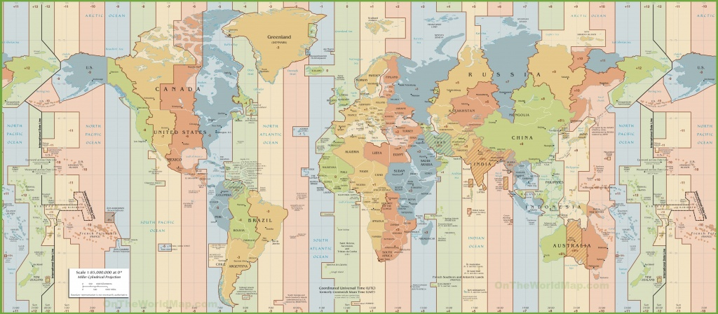 World Time Zones Map - World Time Zone Map Printable Free