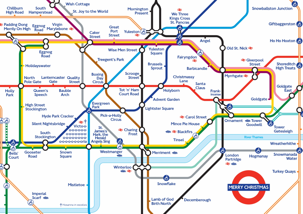 Xmas 20Map Random 2 London Underground Map Printable Throughout - London Metro Map Printable