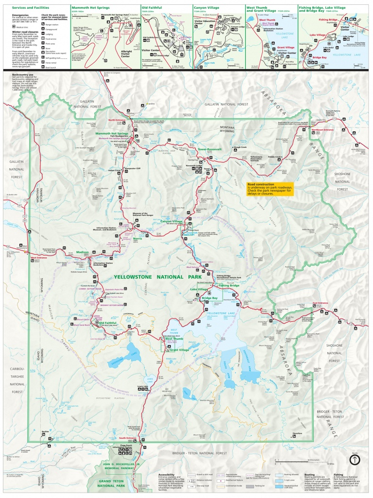 Yellowstone National Park Tourist Map ~ Yellowstone Up Close And - Printable Map Of Yellowstone