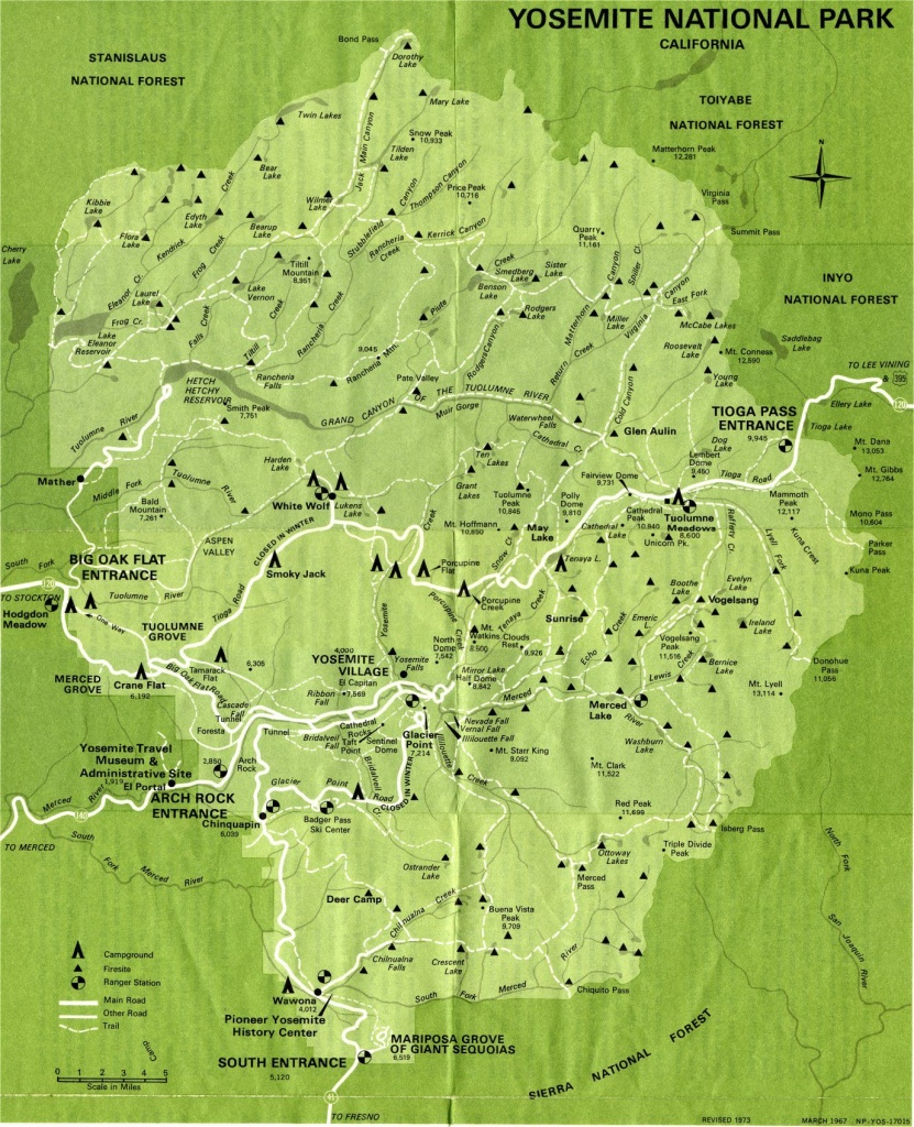 Yosemite National Park Map | Yosemite Valley Yosemite National Park - Yosemite National Park California Map