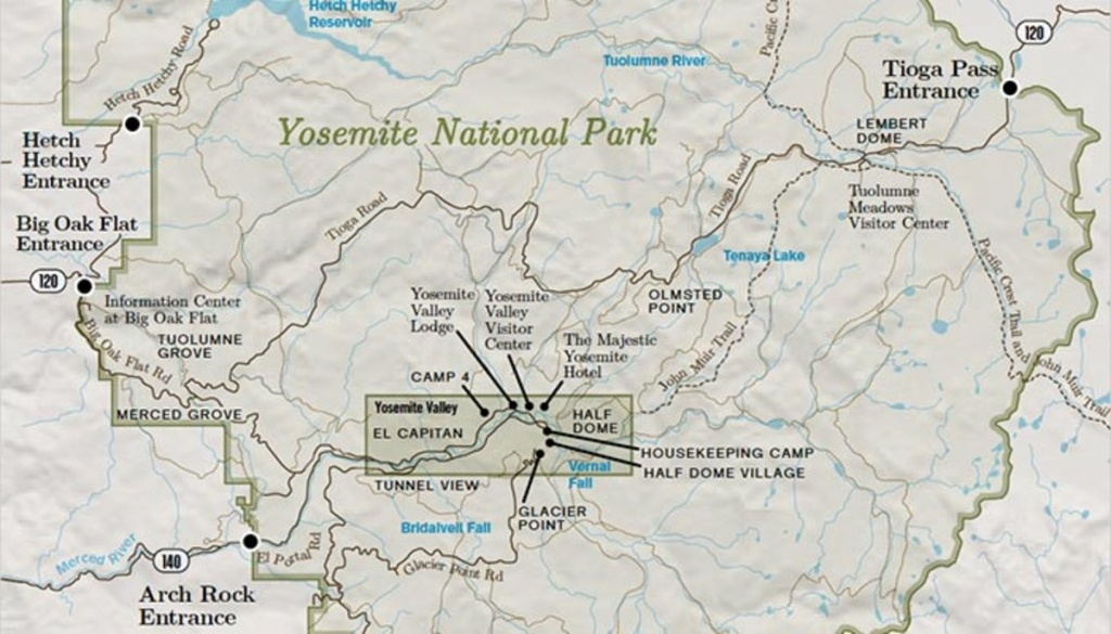 Yosemite National Park Overview Map - My Yosemite Park - Yosemite National Park California Map