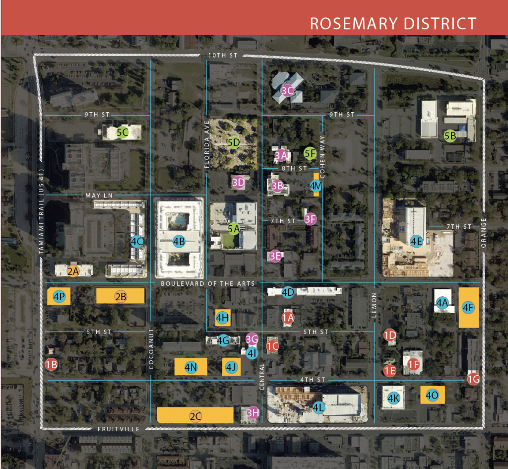 Your Guide To The Rosemary District | Sarasota Magazine - Rosemary Florida Map