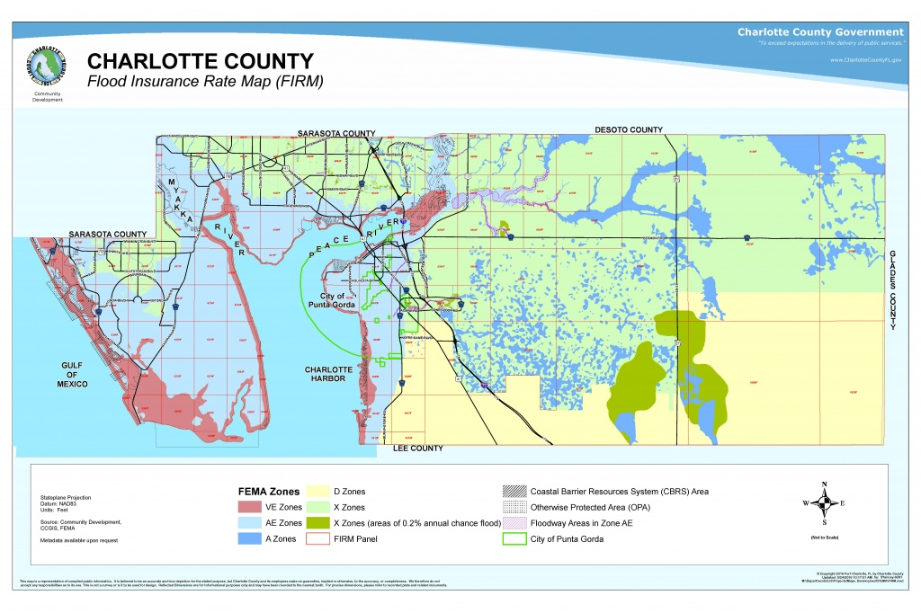 Your Risk Of Flooding - Charlotte Harbor Florida Map
