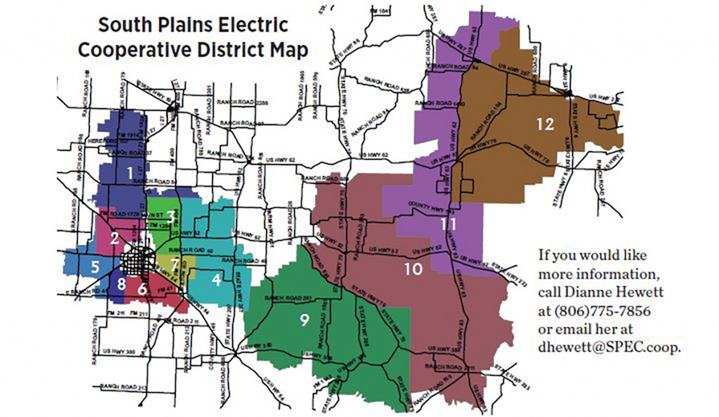 Your Vote. Your Voice. Your Cooperative.   South Plains Electric - Texas Electric Cooperatives Map