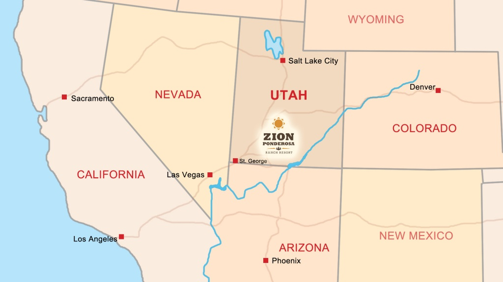 Zion Ponderosa Ranch Resort Location | Directions & Map - California State Parks Camping Map