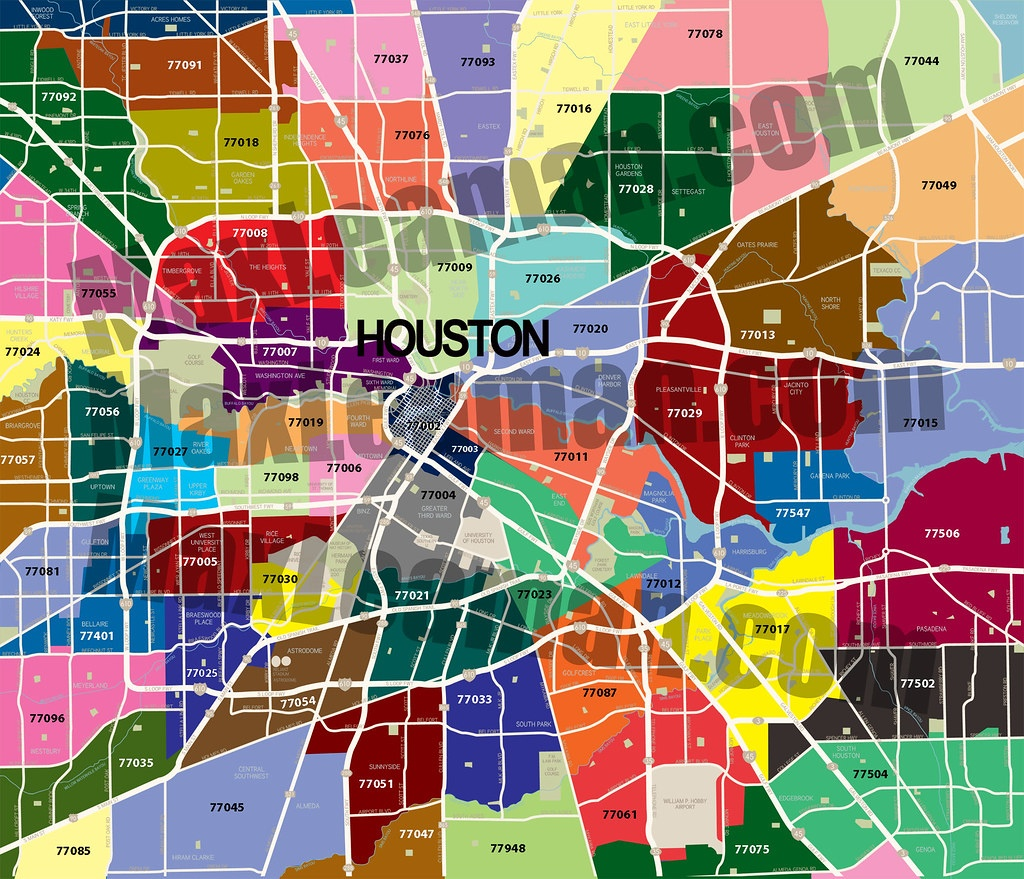 Zip Code Map Of Houston, Tx - Har - Show Me Houston Texas On The Map