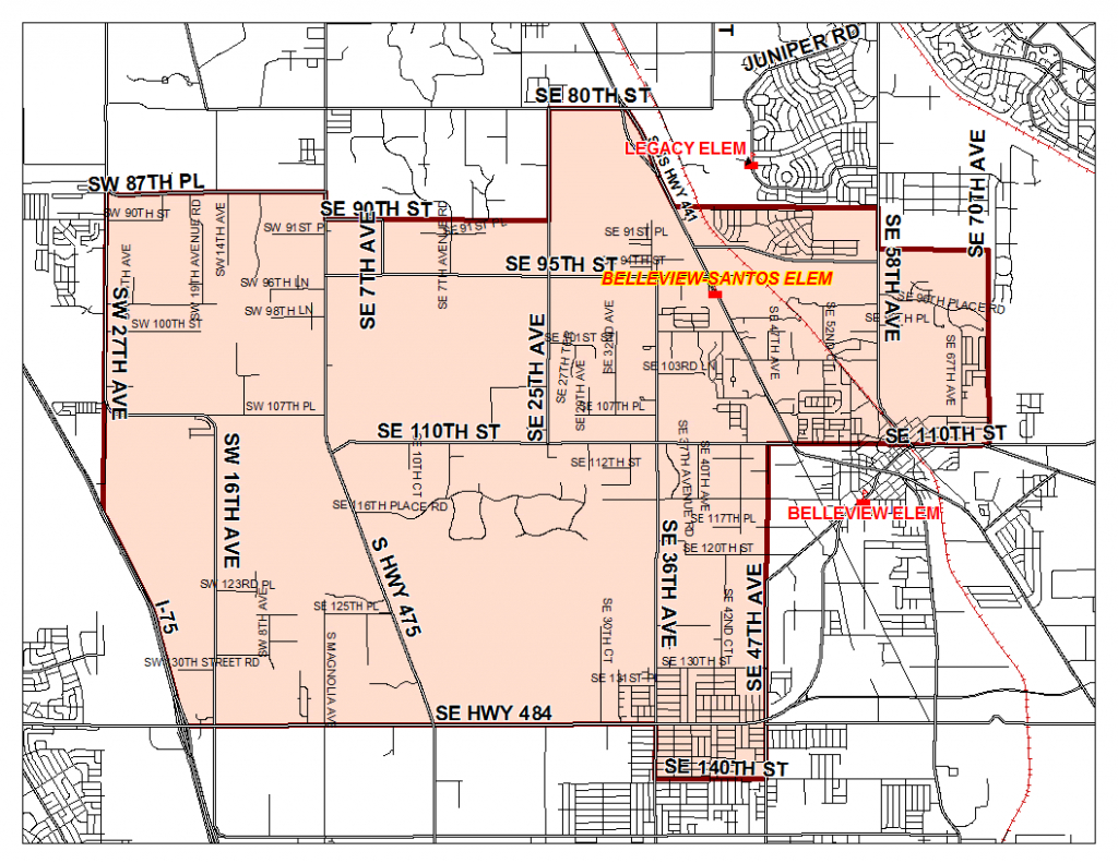 Zoning Boundary Map / Home - Belleview-Santos Elementary School - Belleview Florida Map