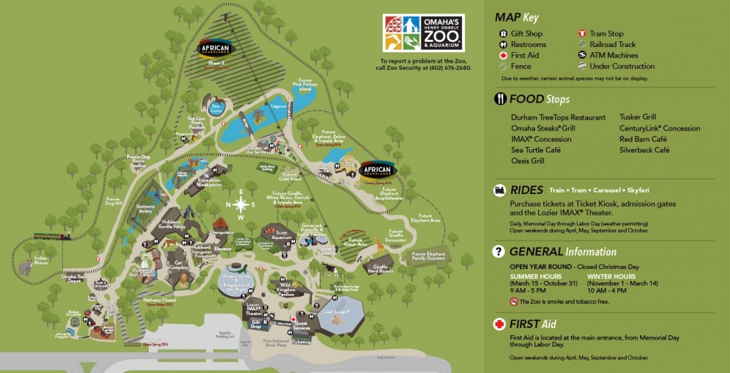 Zoo Map | Omaha's Henry Doorly Zoo | Entertainment In Omaha | Visit - Zoos In Florida Map