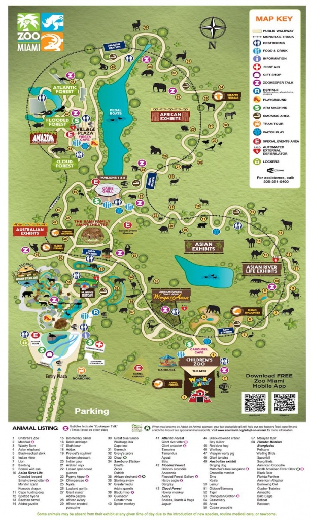Zoo Miami Map | Dehazelmuis - Zoos In Florida Map